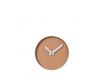 Nástěnné hodiny Blomus RIM | malé světle hnědé