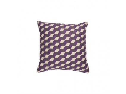 Povlak na polštář Broste 3D 50x50 cm| fialový