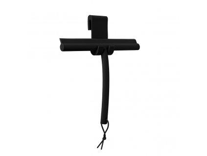 Sprchová stěrka s háčkem Blomus VIPO | černá