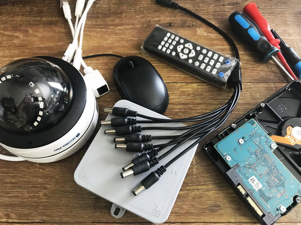 Jaké příslušenství potřebujete ke kamerovému systému?