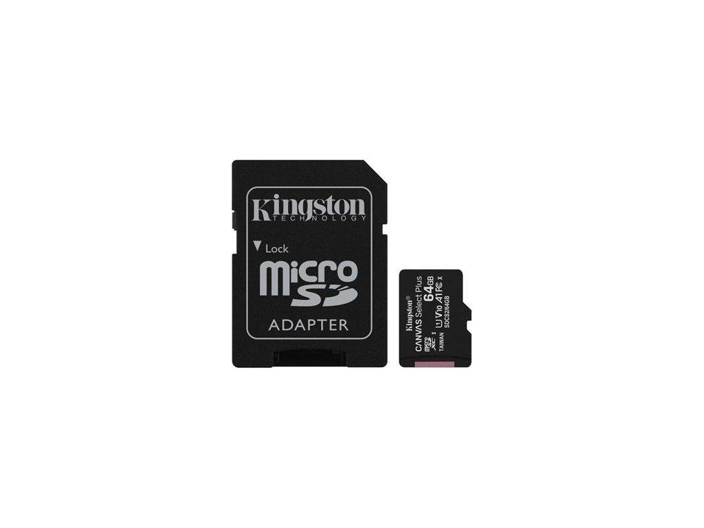 pametova karta kingston canvas select plus a1 64gb microsdxc class 10 100mb s s adapterem i180881[1]