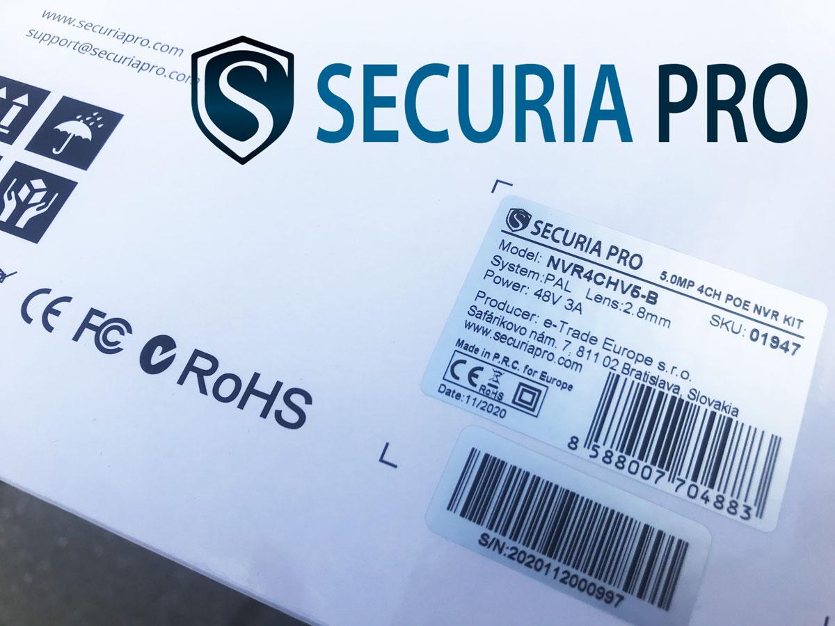 Securia Pro - szlovák márka, kamerarendszerek