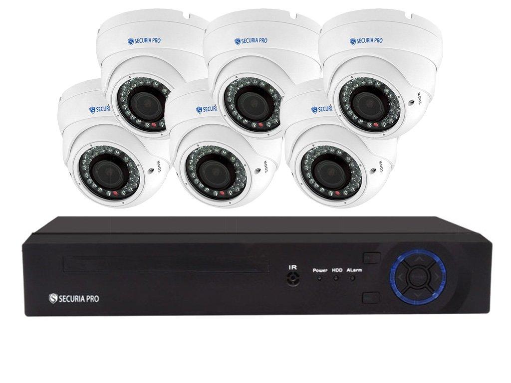 Securia Pro IP kamera rendszer 5MPx NVR6CHV5-W DOME