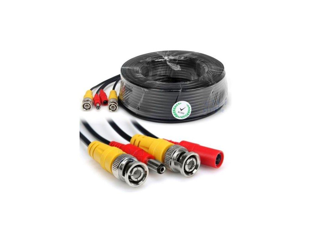 geeek 50m cctv cable combi cable coax bnc rg59 pow