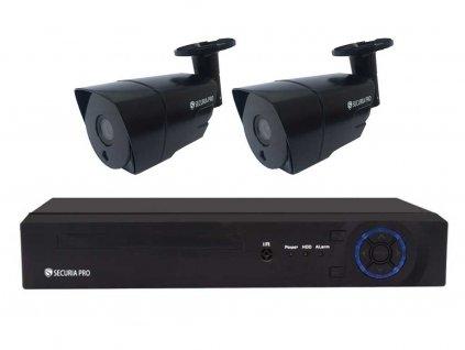 Securia Pro IP set 3MPx NVR2CHV3-B