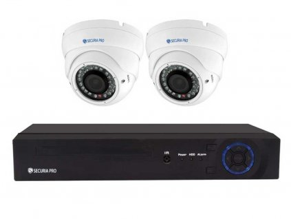 Securia Pro IP set 3MPx NVR2CHV3-W DOME