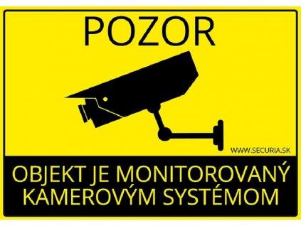 41822 nalepka objekt monitorovany kamerovym systemom 145 100 mm