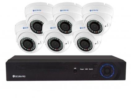 Securia Pro IP set 5MPx NVR6CHV5-W DOME (Nahrávanie 6TB disk)