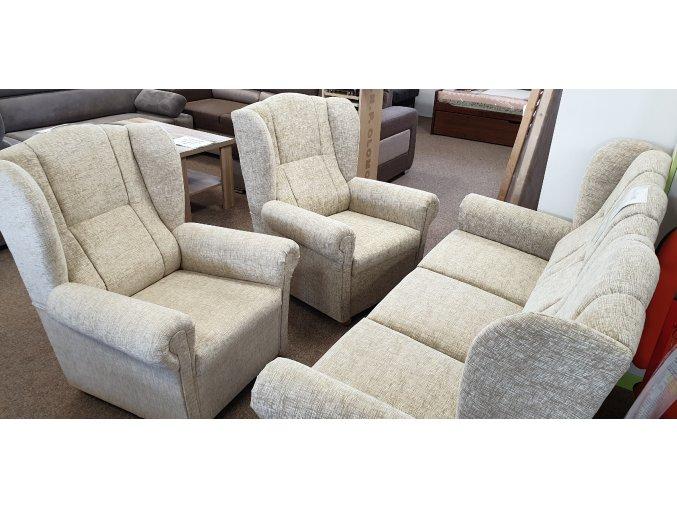 akční sedací souprava UŠÁK 3+1+1 žinilka