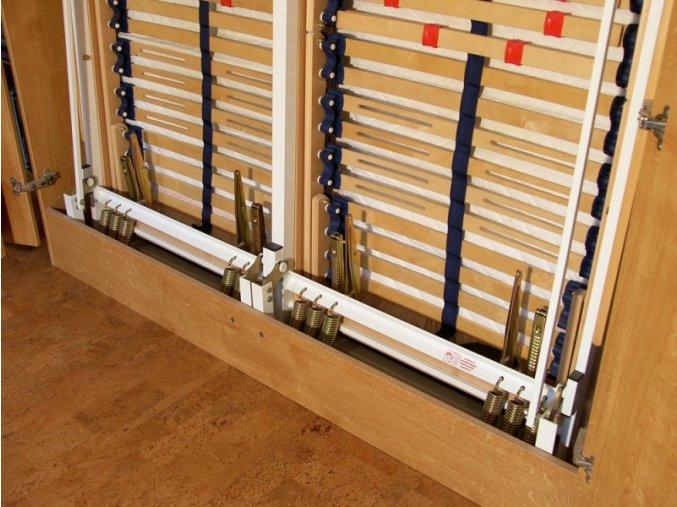Sklápěcí postel ve skříni dvojlůžko s roštem SKL2VN š.160cm PRODEJNA