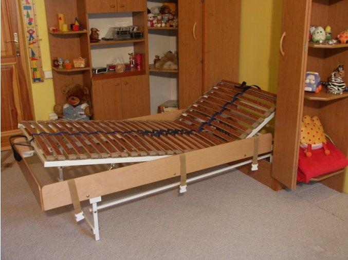 Sklápěcí postel ve skříni - jednolůžko s roštem SKL1VKPP š.90cm (KZK Borovice 1770)
