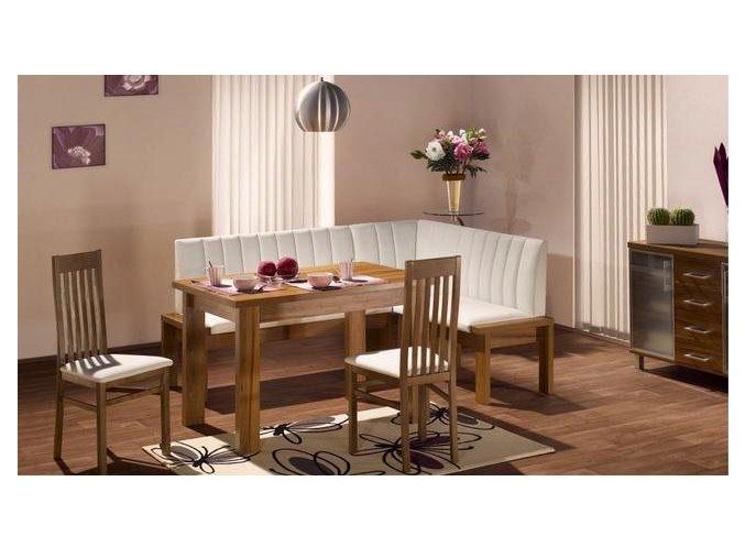 Systém TROJA, sestava lavice HELENA + stůl HELENA + 2 ks židle JUDITA (Iktus 118)