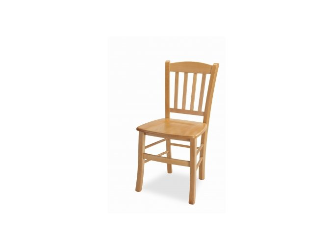kuchyňská židle PAMELA masiv (MI-KO DŘEVO BÍLÁ)