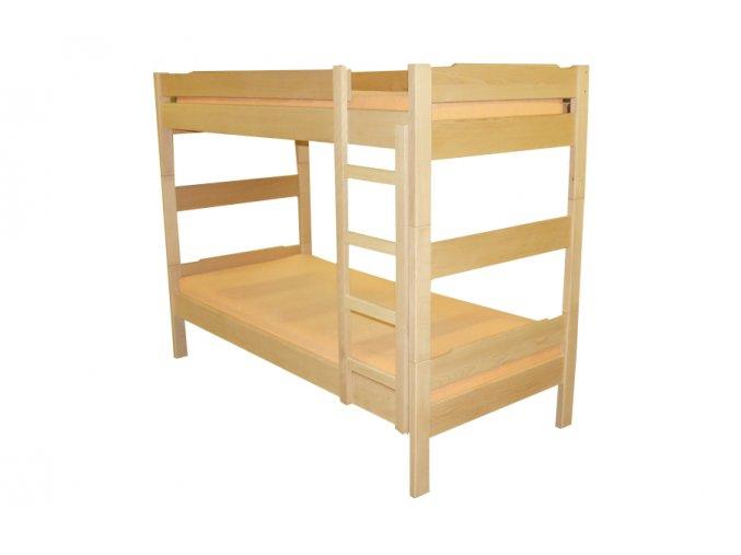 patrová postel MONIKA žebřík BUK (MORÁČEK moření buk přírodní)