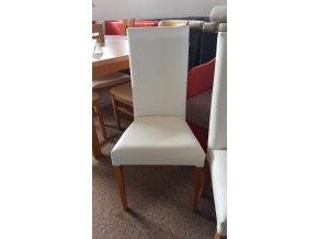 Židle bílá koženka