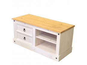 TV stolek CORONA borovice bílý vosk 161017B