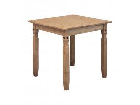 Jídelní stůl 78x78 CORONA 2 borovice vosk 16117
