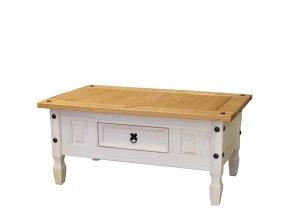 Konferenční stolek CORONA borovice bílý vosk 163910B