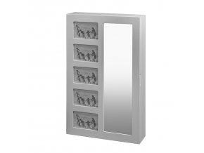 Závěsné zrcadlo se šperkovnicí STELLA 4202 bílé