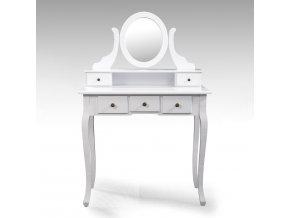 Toaletní stolek se zrcadlem STELLA 4203 bílý