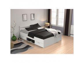Multifunkční postel 140x200 MICHIGAN perleťově bílá 471707