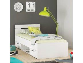 Multifunkční postel 90x200 MICHIGAN perleťově bílá 471719