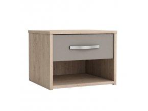 Noční stolek GRAPHIC dub/béžová 492678