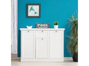 Prádelník 3 dveře + zásuvka LANDWOOD 15 FN1598 bílý