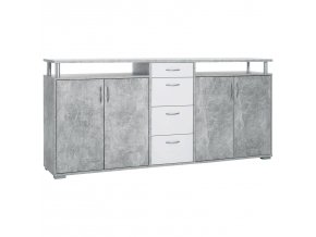 Komoda MAXIMO beton/bílá FN2376