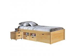 Multifunkční postel CLAAS 90x200 cm ID30400630 borovice lak