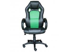 Kancelářské křeslo FORMULA černá/zelená K121