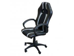 Kancelářské křeslo FORMULA černá/ šedé