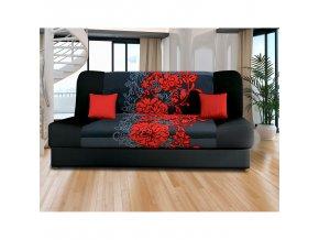 Pohovka VICTORIA červené květy P60