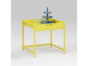 Servírovací stolek ANNIKA žlutý T640001