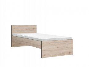 RONSE LOZ/90 postel dub san remo světlý/šedý wolfram