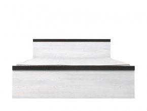 PORTO LOZ/160 postel modřín sibiu světlý/borovice larico