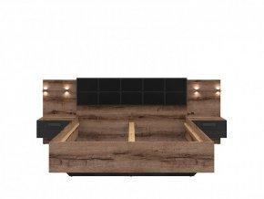 KASSEL LOZ/160/A postel dub monastery/dub černý
