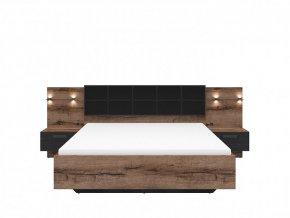KASSEL LOZ/160/B postel dub monastery/dub černý