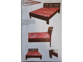 Masivní postel RADEK BUK 160-180