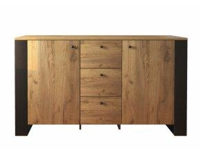 wood komoda 2d3s