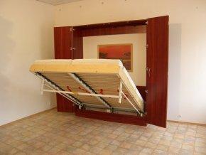 Sklápěcí postel ve skříni dvojlůžko s roštem SKL2VKP š.180cm