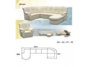 sedací souprava OLIMPIC 180x330x169 (CREDO snadné čištění Werona 16)