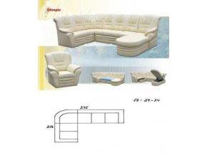 sedací souprava OLIMPIC 218X275 (CREDO snadné čištění Werona 16)