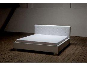 Manželská postel ACHILLES 160 Kůže (AKSAMITE kůže Florida 517)