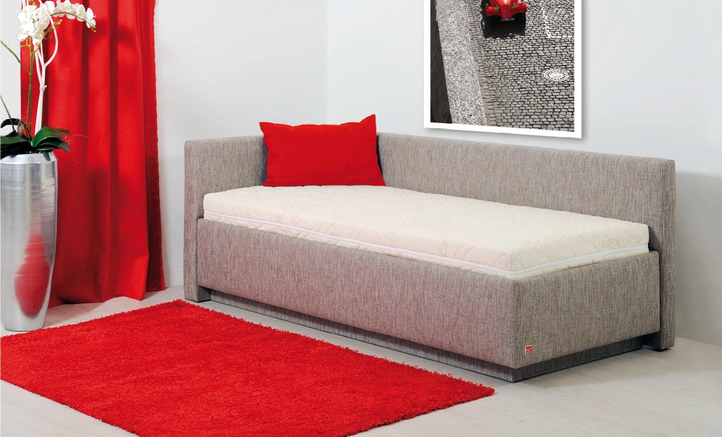 CALYPSO jednolůžková postel s úložným prostorem