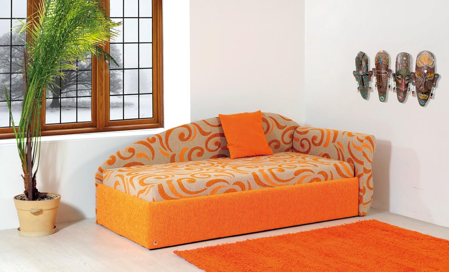 JUPITER jednolůžková postel s úložným prostorem