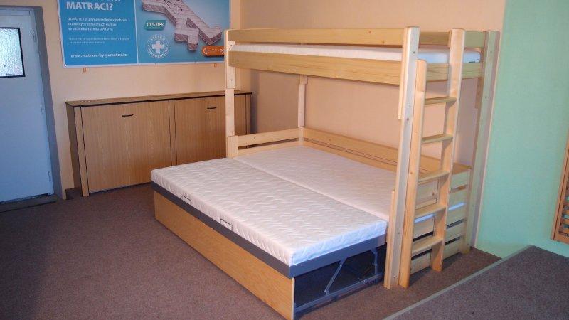 rozkládací patrová postel ALKA SMRK