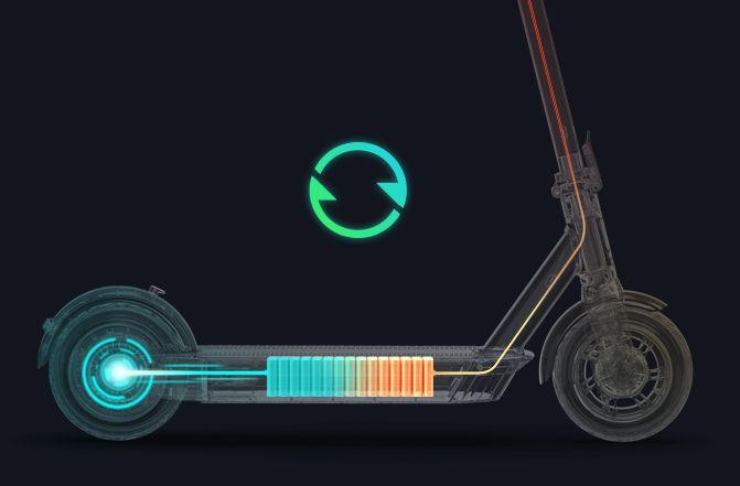 recyklace energie Kickscooter G30 MAX