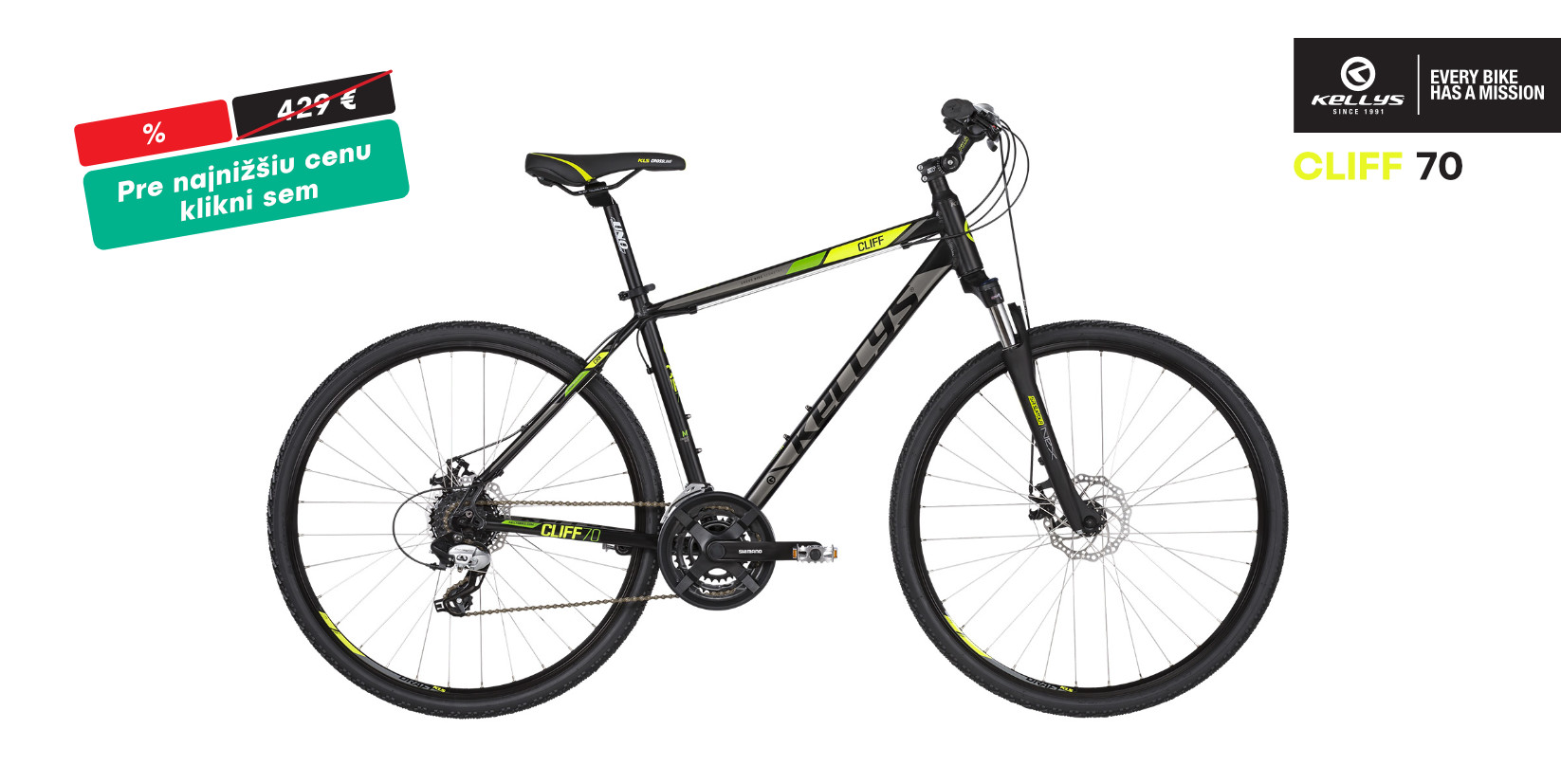 KELLYS Cliff 70 Black Green 2019