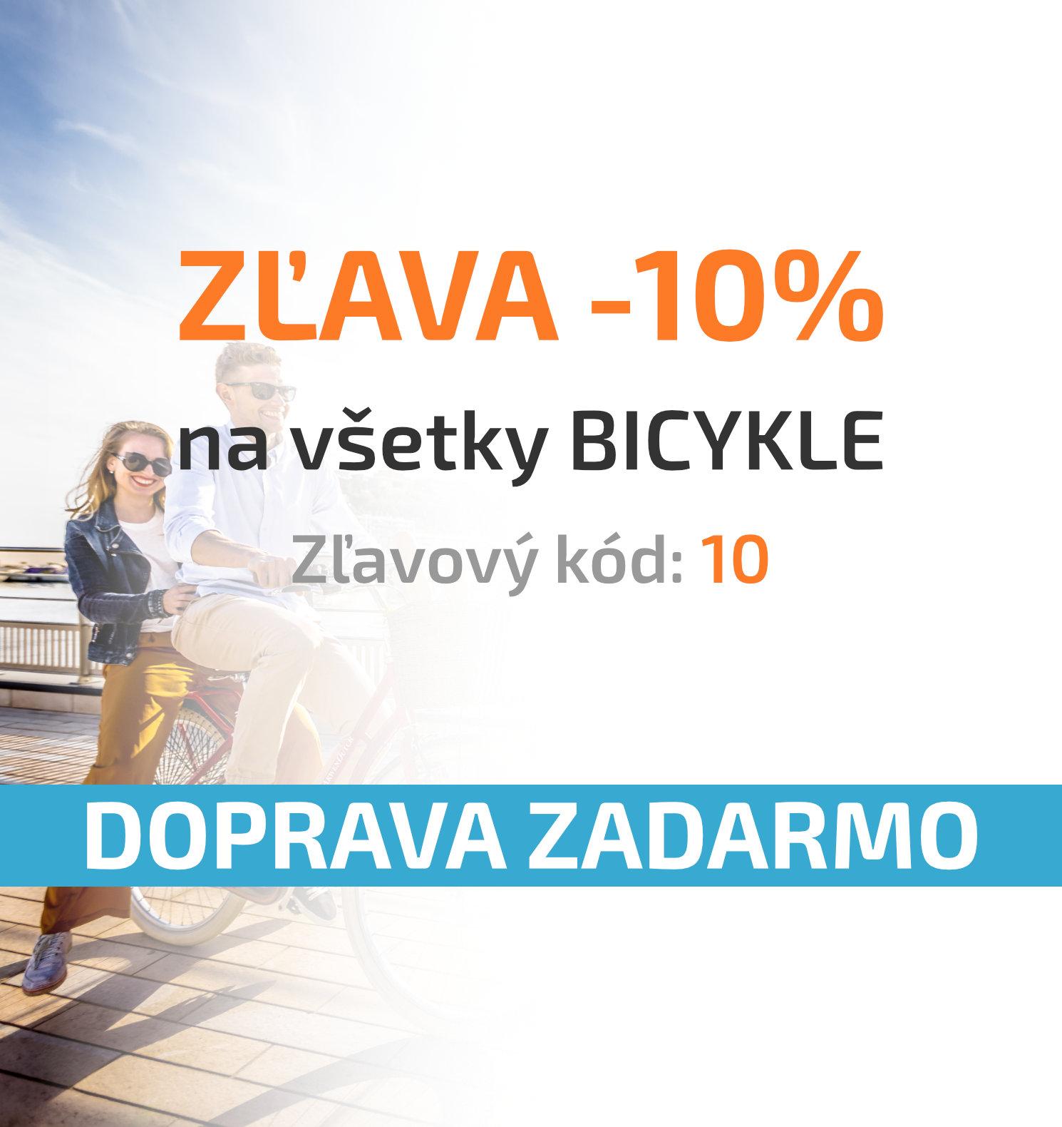 Zľava -10% na všetky bicykle